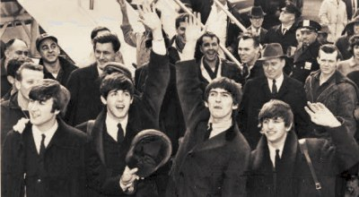 The Beatles arrive in America in 1964, United Press International, public domain photo